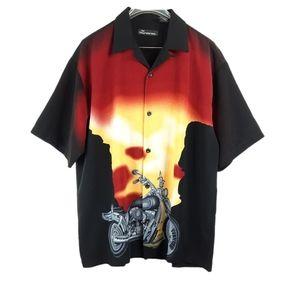 No Boundaries Motorcycle Biker Sunset Shirt L